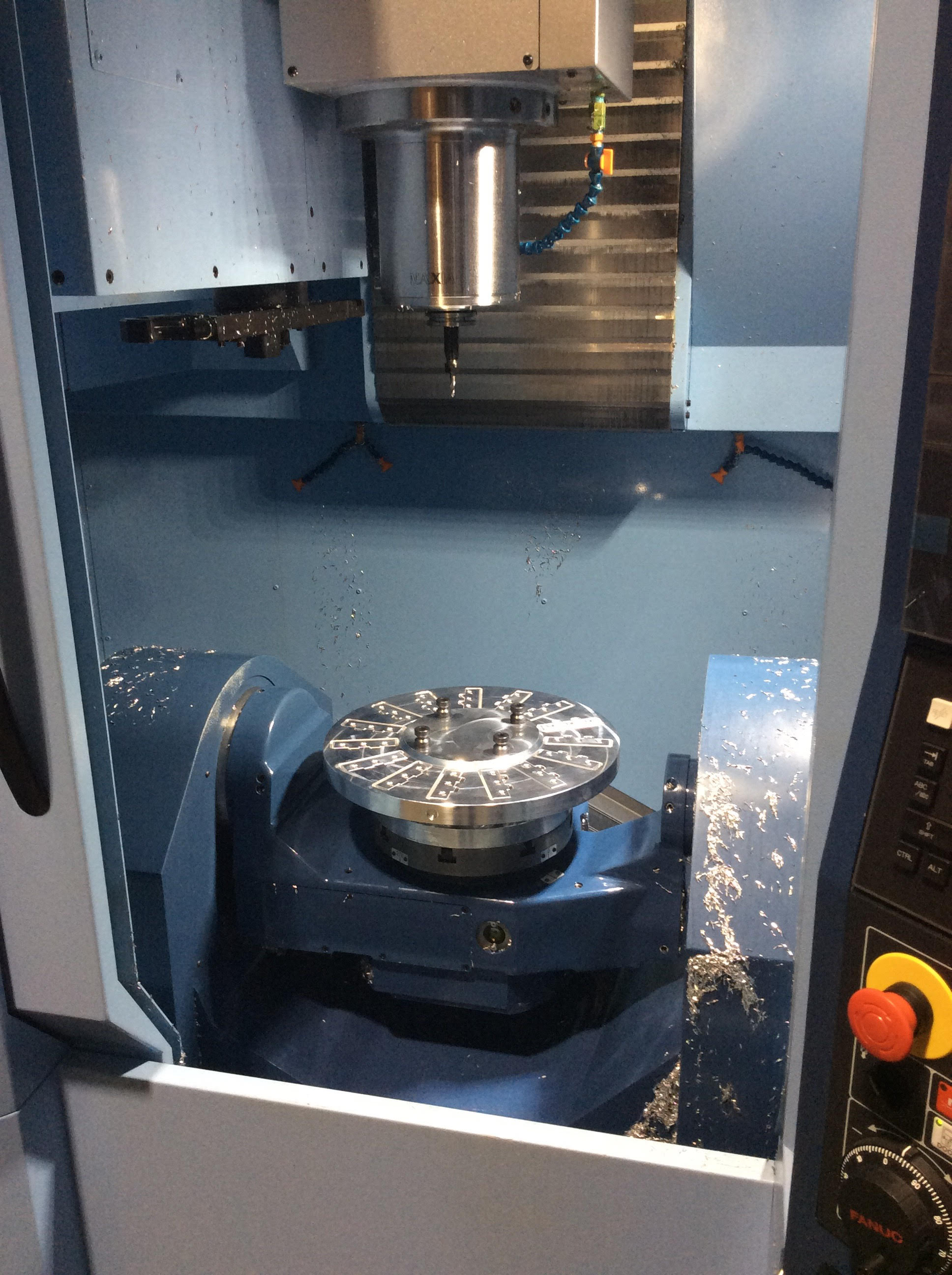 Picture of Fixture Blank Is Complete; Ready for 5-axis Machining on Matsuura MX-330
