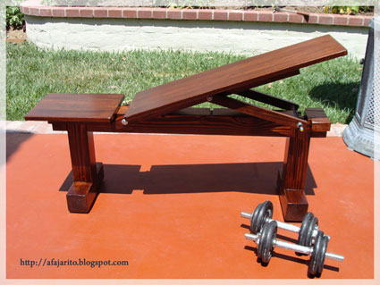 Picture of Weight Bench (5 Position,Flat/Incline) Doubles As Patio Bench