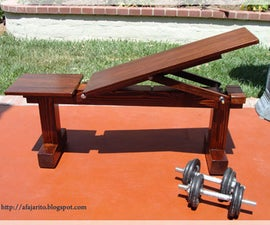 Weight Bench (5 Position,Flat/Incline) Doubles As Patio Bench