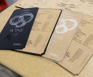 Cork and Acrylic Wine List