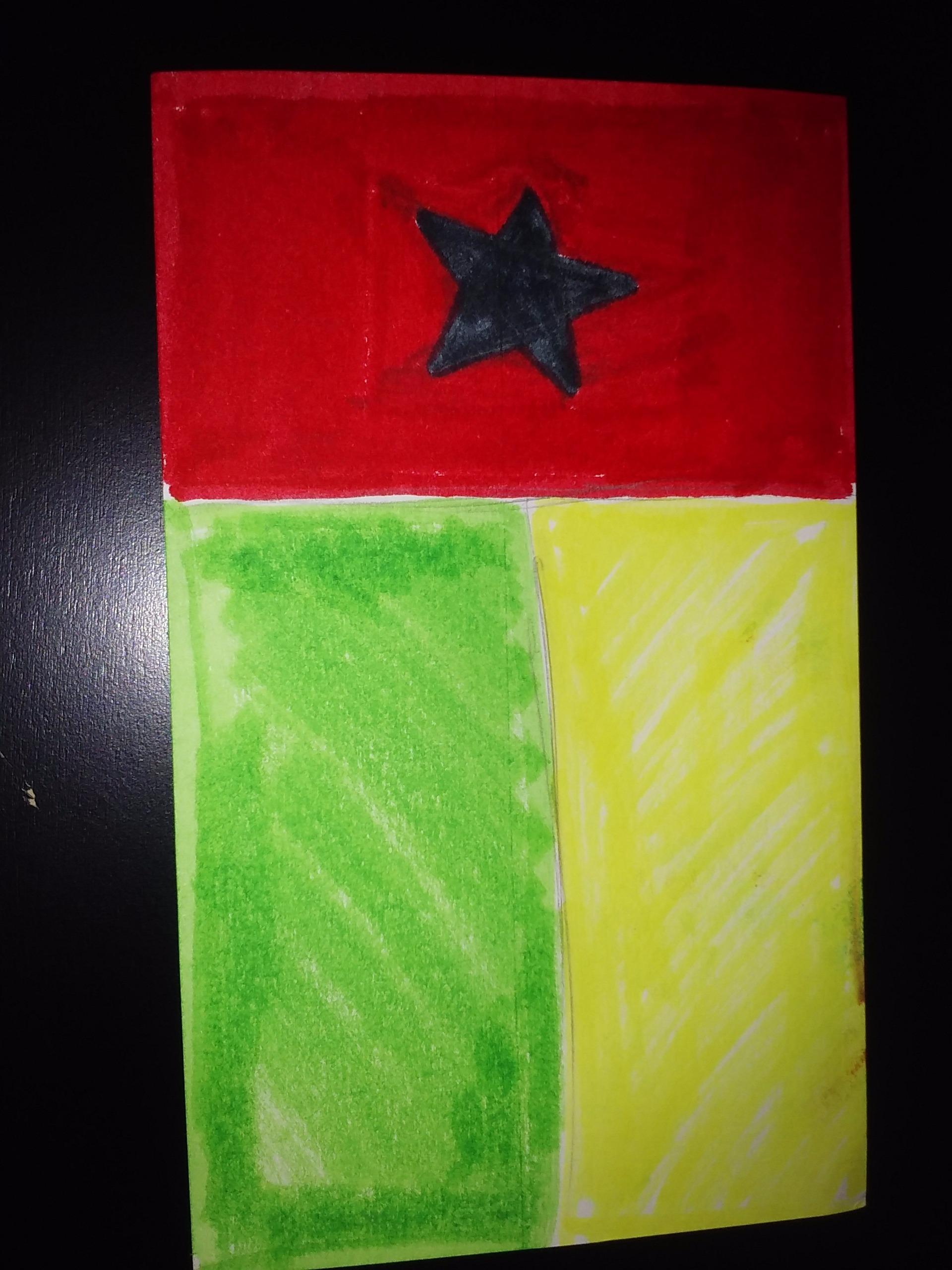 Picture of DIY Flag Art:Guinea - Bissau