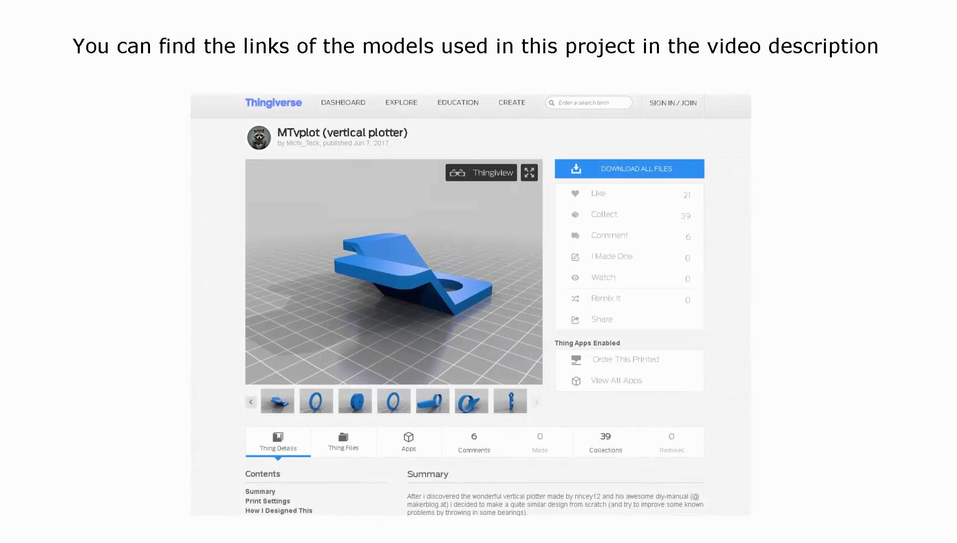 Picture of 3D Models - Plotter Gondola and Stepper Bracket