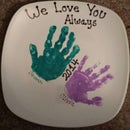 simple (inexpensive) handprint gift for the grandparents or parents!
