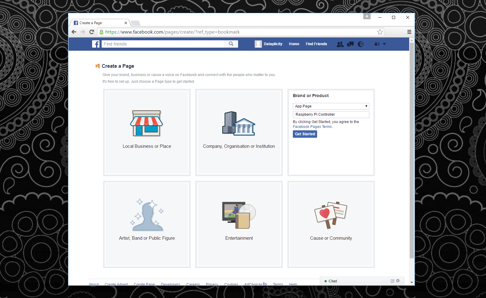 Picture of CREATE a FACEBOOK PAGE