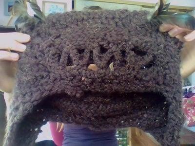 Crochet Owl Hood/hat