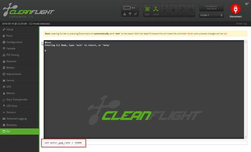 Cleanflight - Basic Setup