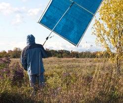 A Photographer's Portable Sun Shade