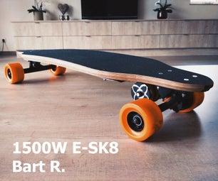 Powerful 1500W Electric Longboard