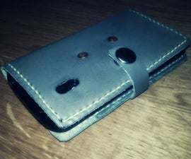 Leather Phone Wallet Hybrid Case With Card Slots