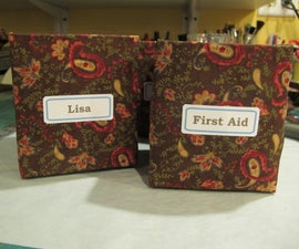 Make a storage bin by upcycling a tissue box