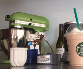 Starbucks Red Velvet and Caramel Frappucinos
