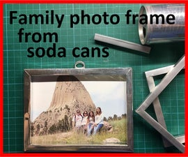 Family Photo Frame From Soda Cans