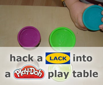 Hack a LACK Into a Play-Doh Play Table With Extra Storage