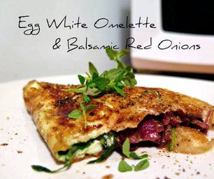 Egg White Omelette With Balsamic Red Onions