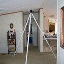 A giant camera tripod on the cheap
