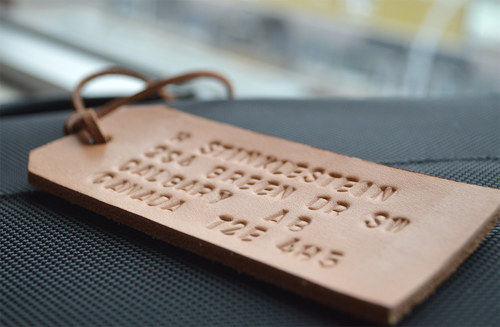Picture of Father's Day DIY: Embossed Leather Luggage Tag & Tie Clip