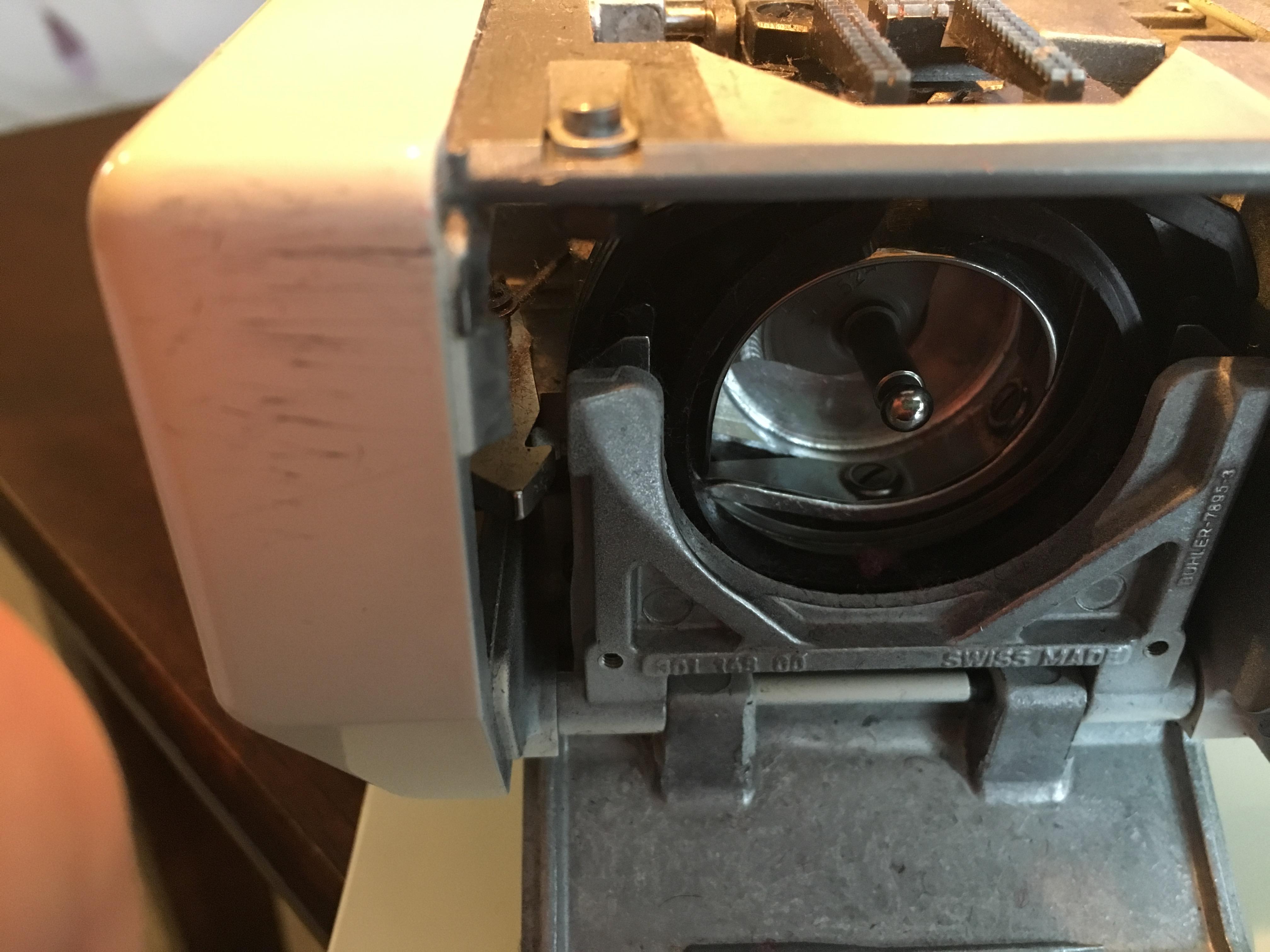 Picture of Clean Bobbin Compartment