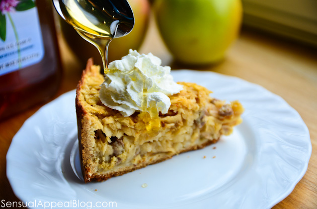 Picture of Polish Apple Pie (Szarlotka) With Honey, Nuts, and Raisins