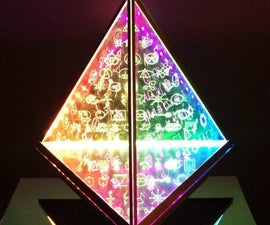 Floating Pyramid Lamp With 108 Spiritual Symbols