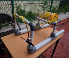 rc unmanned surface vehicle (USV) ,pipe boat ROV