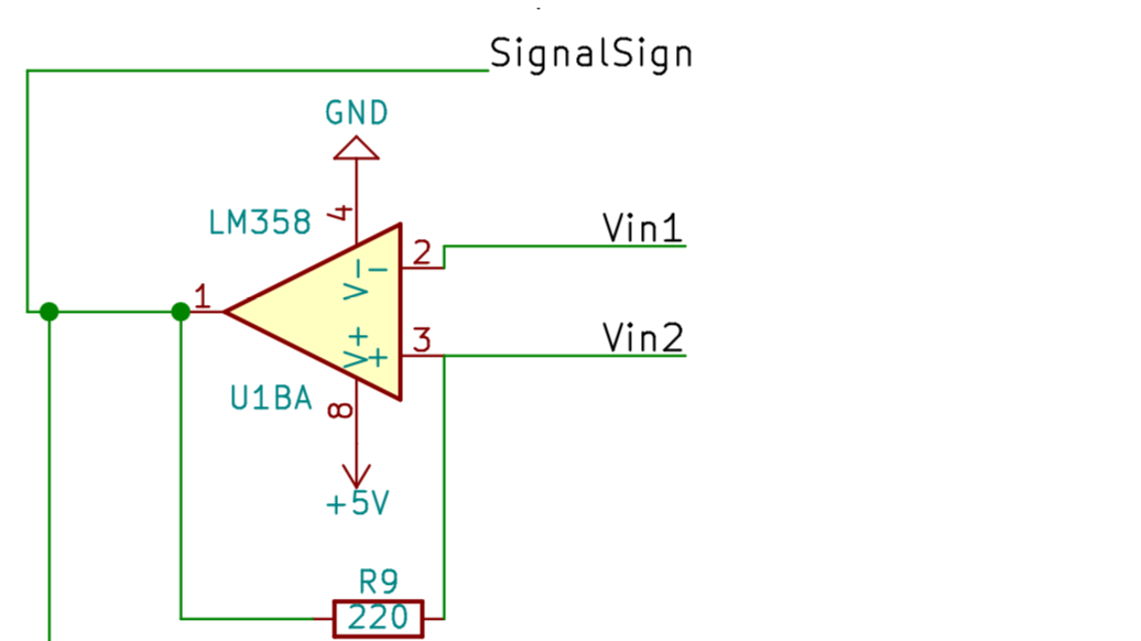 Picture of Comparator Circuit