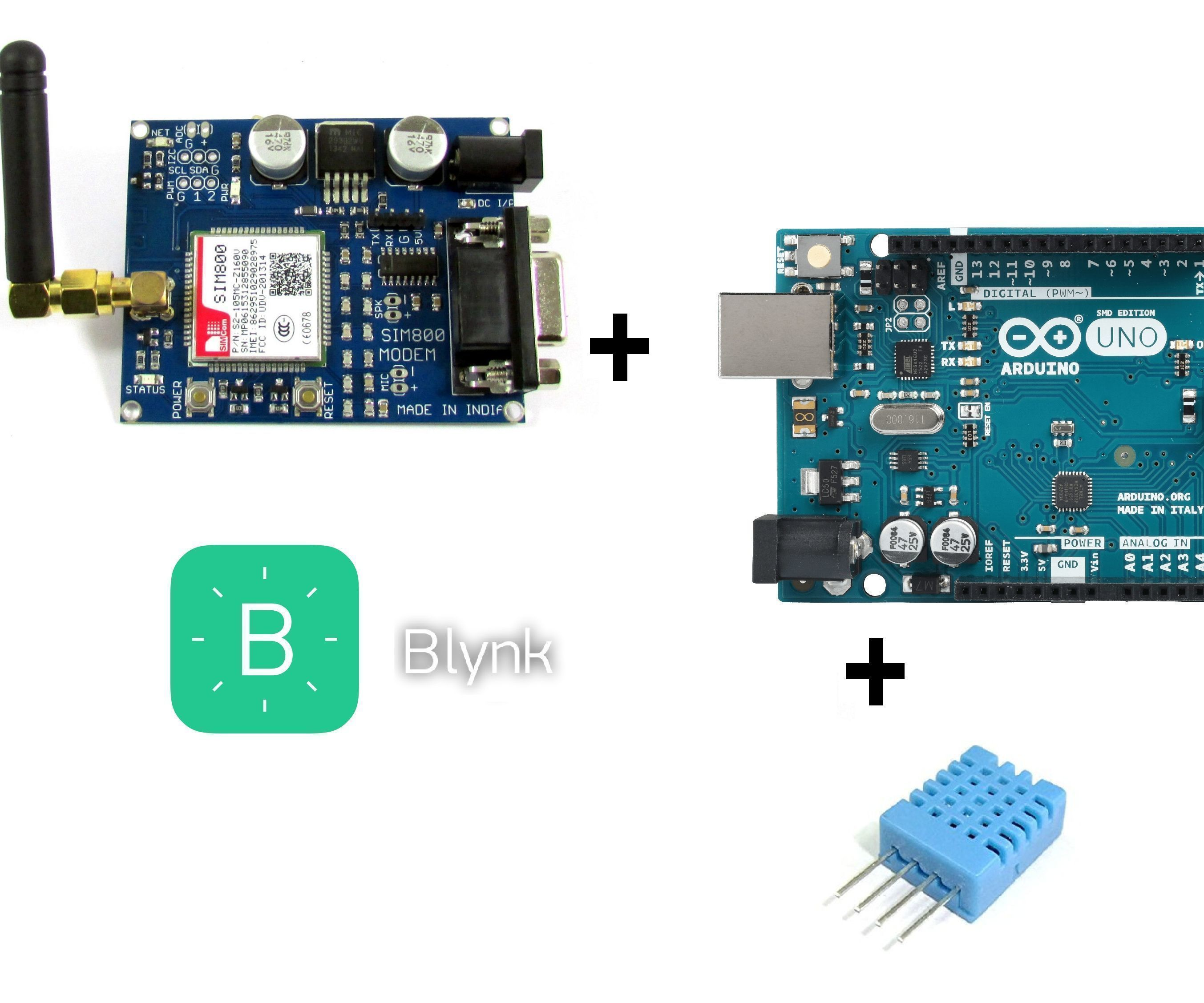 Blynk+GSM Sim800+Arduino Uno+DHT11: 5 Steps (with Pictures)