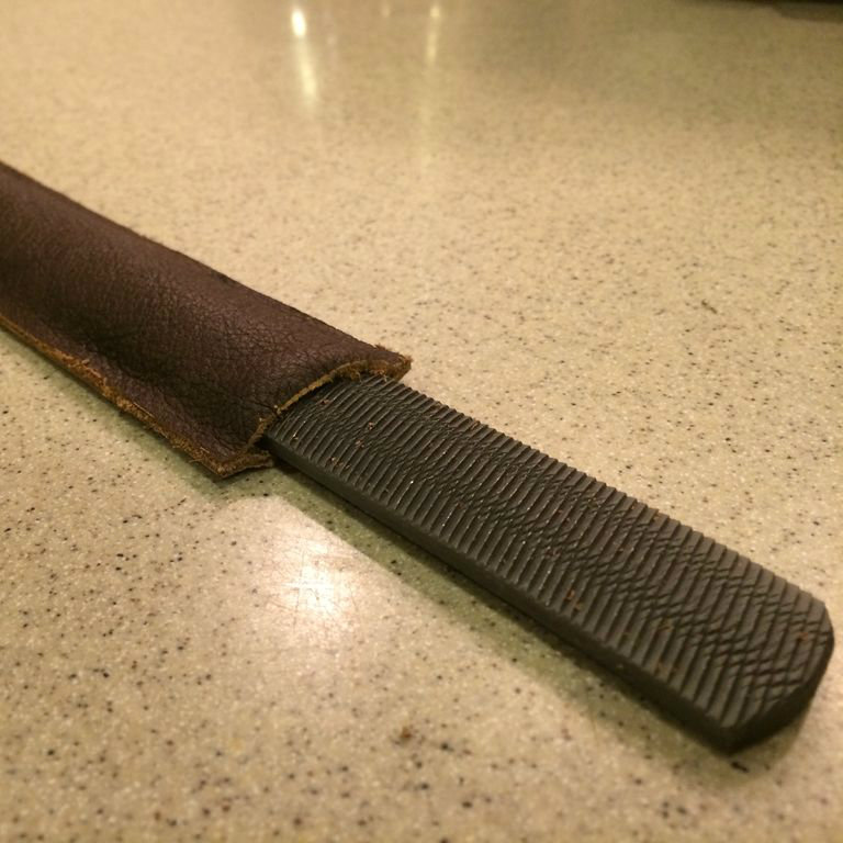 Picture of Cheap, Quick, and Easy Leather Sheath for File