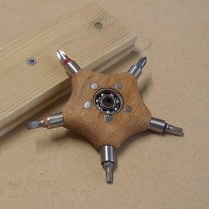 Convertible Wooden Fidget Spinner | Shuriken / Slingshot / Screwdriver