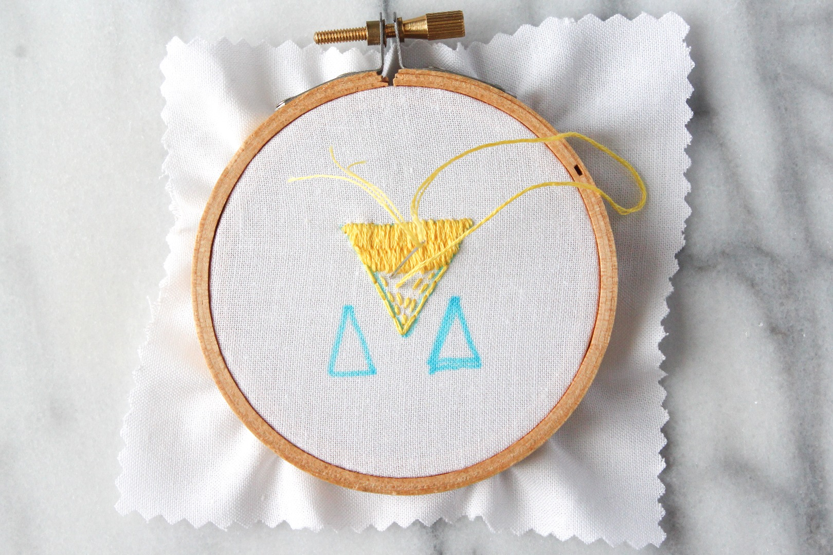 Picture of How to Do Straight and Seed Stitches