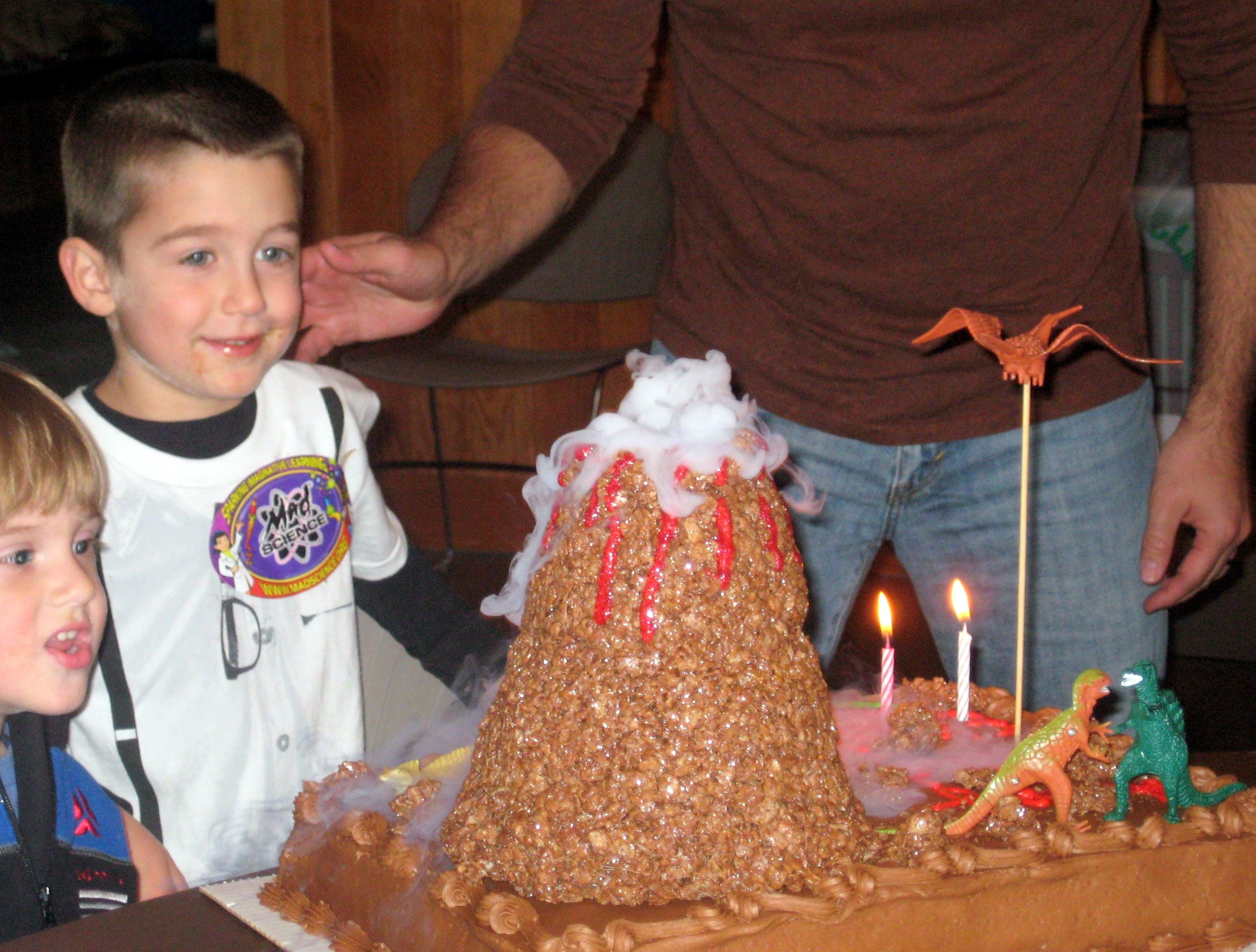 Fabulous Pretty Easy Erupting Volcano Birthday Cake Using Dry Ice 6 Personalised Birthday Cards Veneteletsinfo