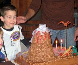 Pretty Easy Erupting Volcano Birthday Cake (Using Dry Ice)