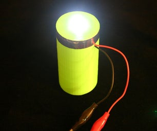Ultracapacitor 3d Printed Flashlight