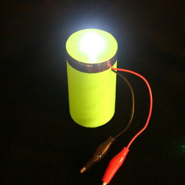 Ultracapacitor 3d Printed Flashlight