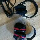 Sony MDR-7506s inside 3M Tekk 30db Noise Reduction Earmuffs