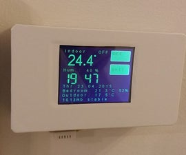 ESP8266 WiFi touch screen thermostat