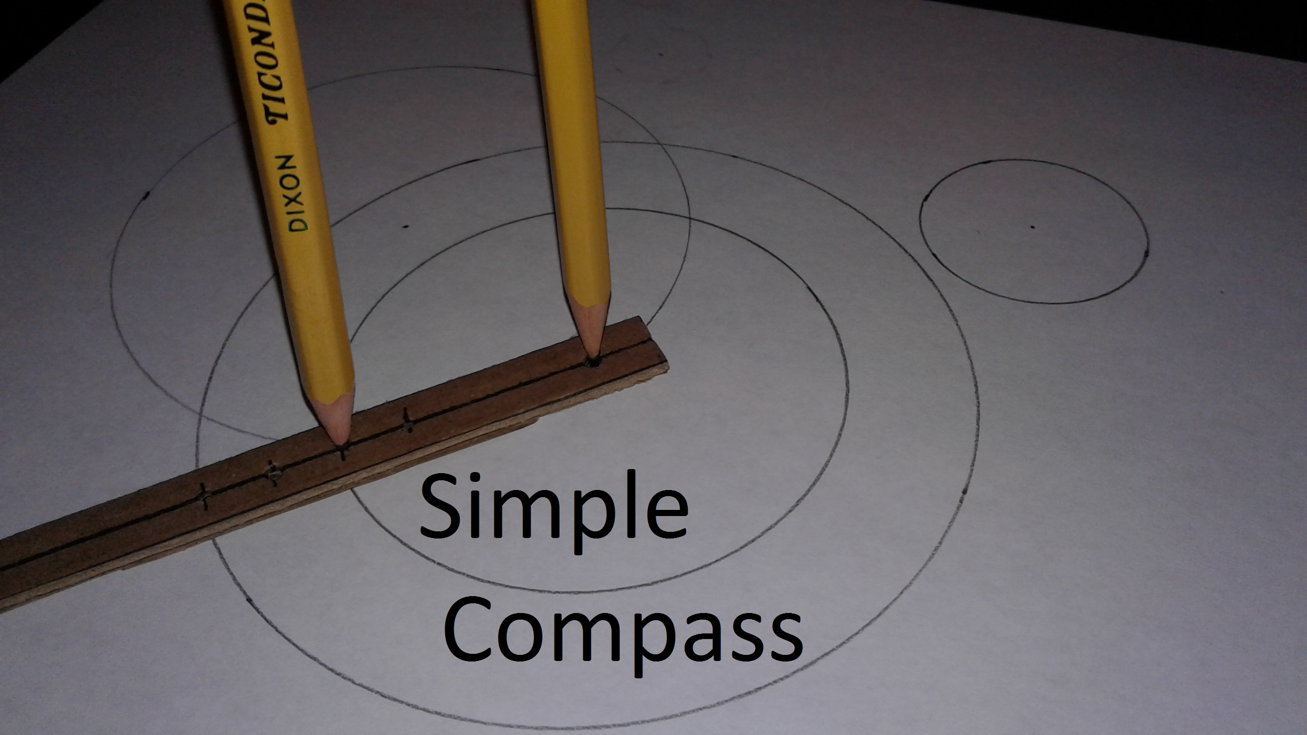 Picture of Simple Compass (for Drawing Circles)