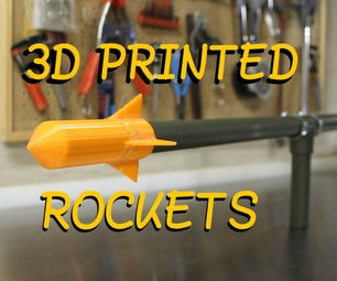 Make your own Rocket Cannon - Shoot 3D Printed Rockets over 100 FEET!