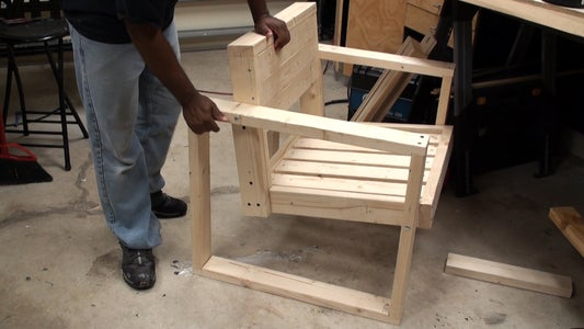 Completing the Chair Back