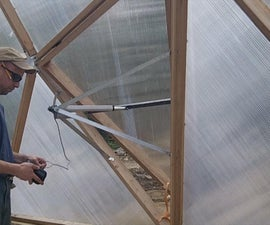 Building a Greenhouse Vent Opener