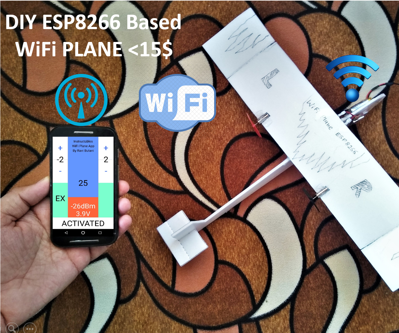 DIY WiFi Controlled Tiny Plane <15$: 9 Steps (with Pictures)