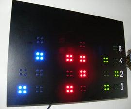 Wall Binary Clock (80 LEDs)