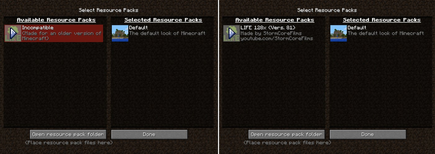 Common Issues With Resource Packs