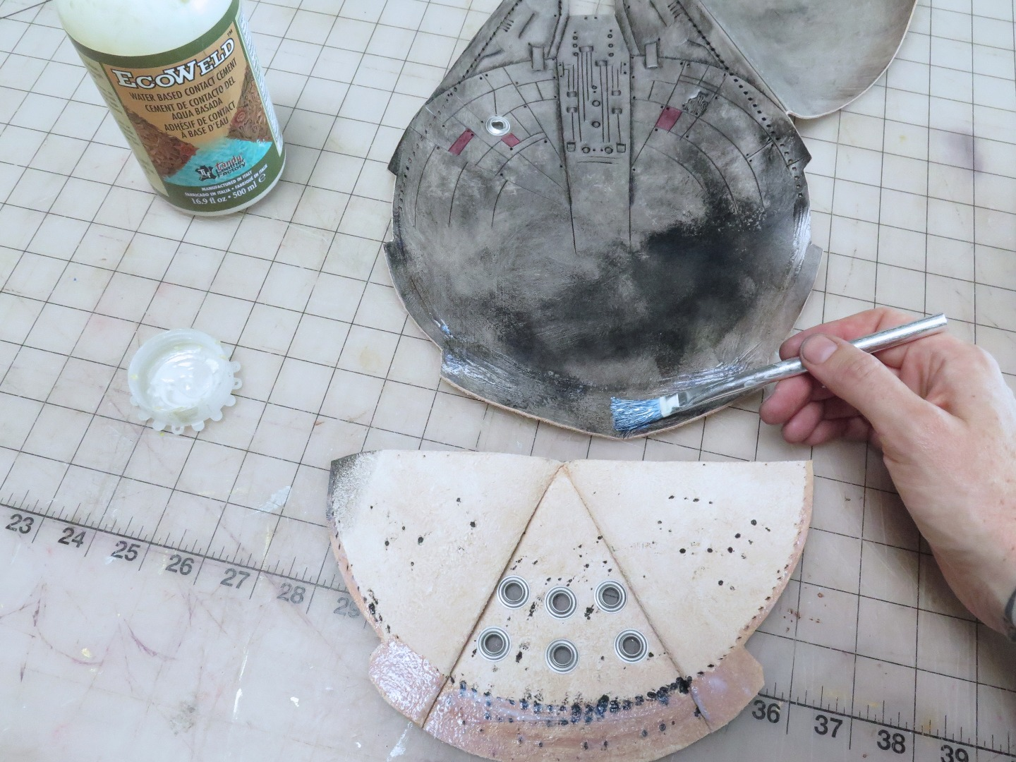 Picture of Gluing and More Stitch Punching