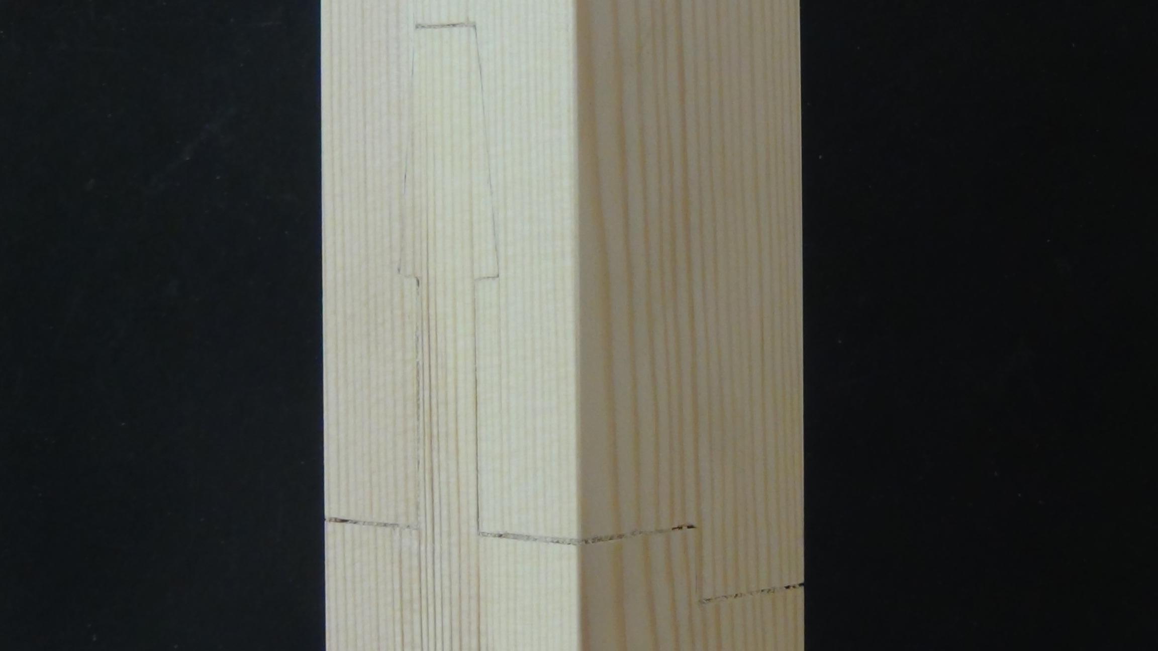 Picture of Stepped Gooseneck Splice (Koshikake Kamatsugi)