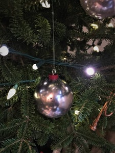 Polished Aluminum Bauble Ornaments From Tin Foil