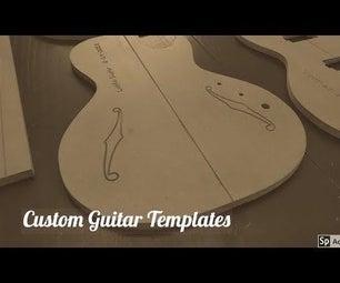 Custom Made Guitar Router Templates