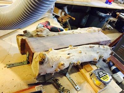 Flatten the Back Side of the Knife Rack