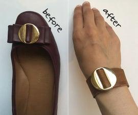 Leather Bracelet From Shoe Buckle