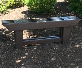 Japanese-style Garden Bench From Reclaimed Wood