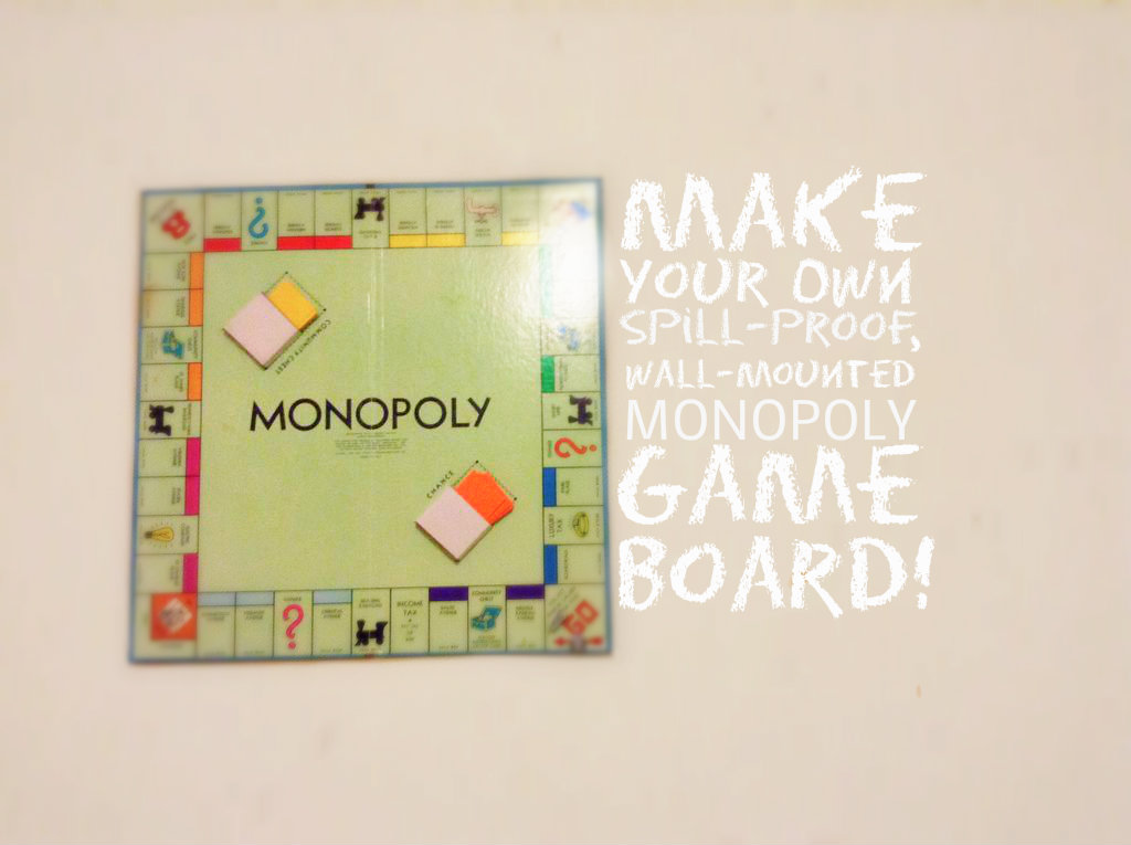 Picture of Spill-Proof Monopoly Board